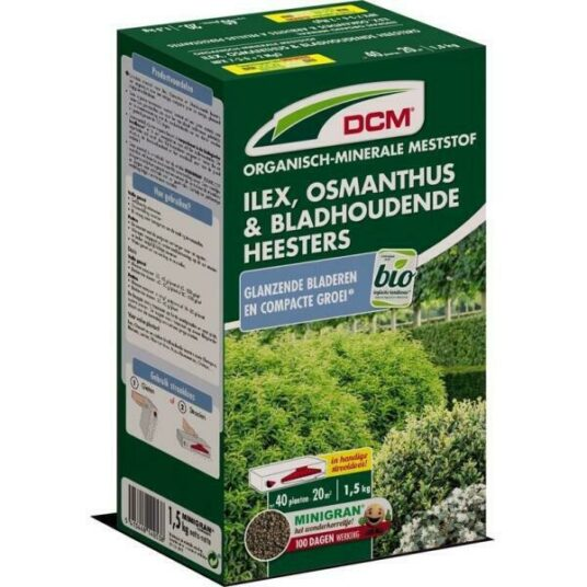 DCM Meststof voor ilex, osmanthus & bladhoudende heesters